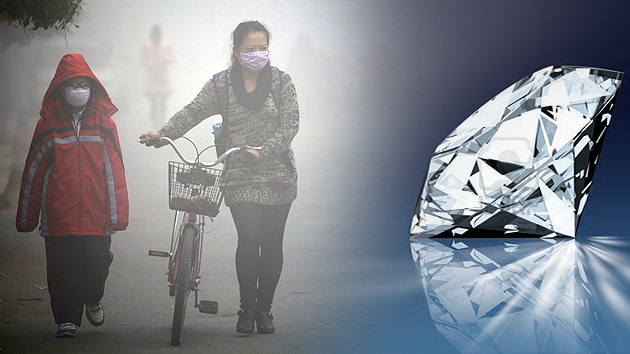 ¿Diamantes de humo?: China convertirá su contaminación tóxica en piedras preciosas