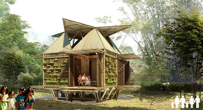 Construcciones de bambú resistentes a desastres naturales