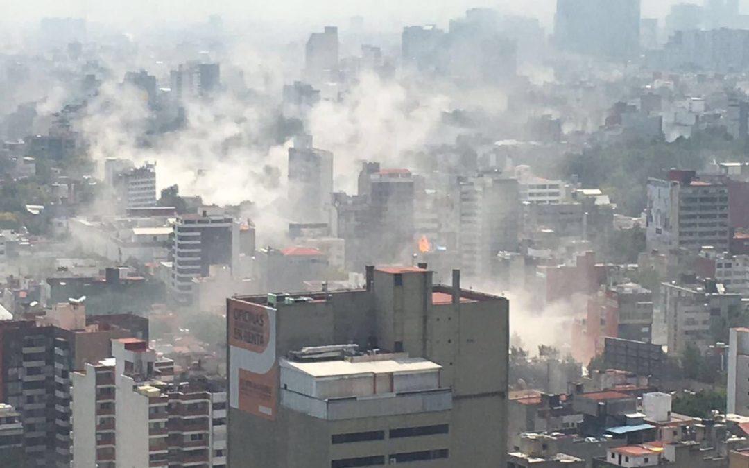 Fotos y vídeos que muestran el colapso de la CDMX tras el sismo