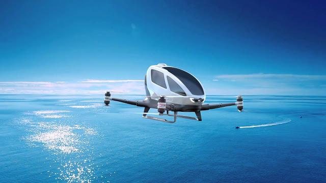 Primeros taxis voladores funcionarían en Dubái en los próximos meses