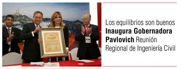Inaugura Gobernadora Pavlovich Reunión Regional de Ingeniería Civil