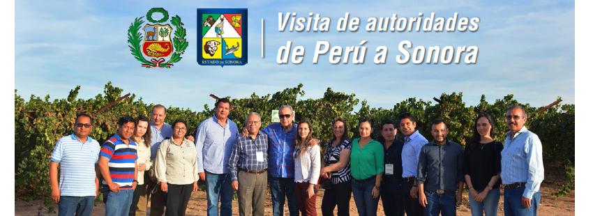 VISITA DE AUTORIDADES DE PERÚ A SONORA