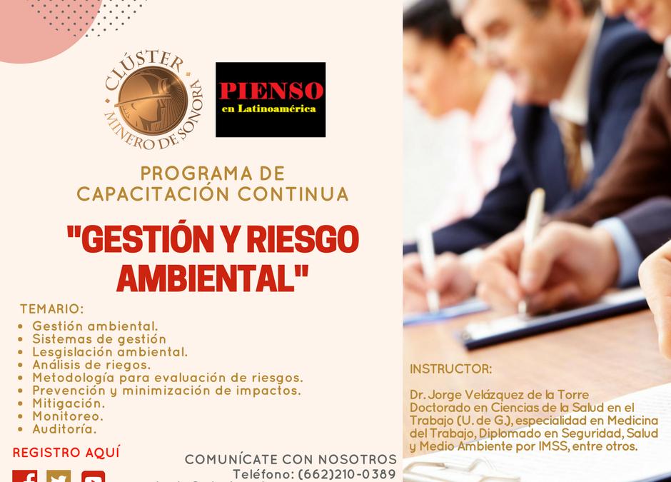 INICIA CLÚSTER MINERO DE SONORA EL 2018 CON CAPACITACIÓN EN GESTIÓN Y RIESGO AMBIENTAL